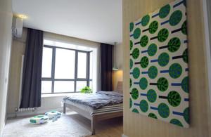 三室一厅绿色背景墙
