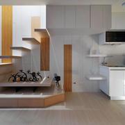 公寓实木置物柜展示