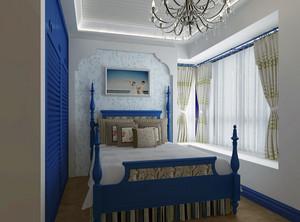 大户型地中海风格卧室背景墙装修效果图