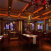 中式酒楼原木吊顶装饰