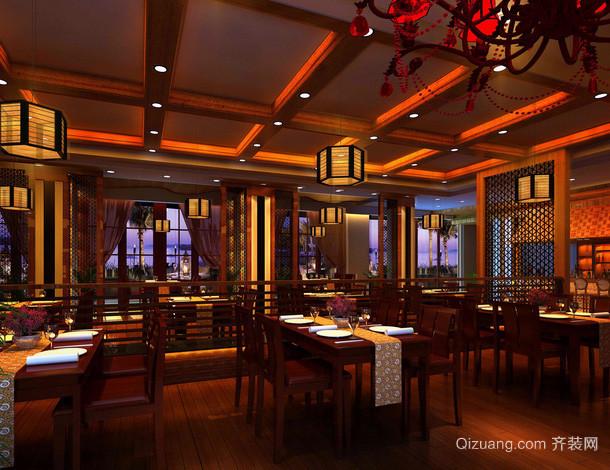 中式风格古韵酒楼装修效果图展示