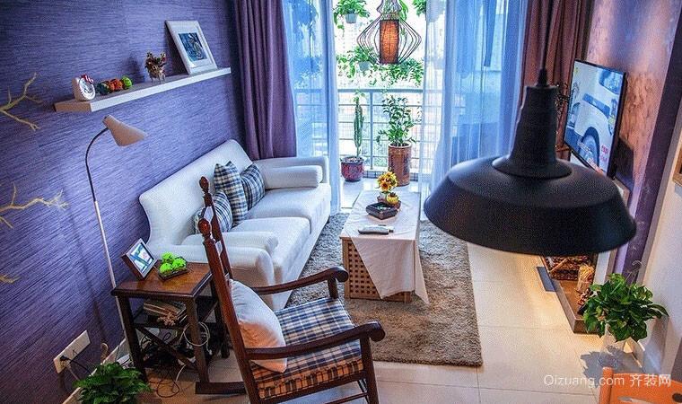 趣味紫色的新古典公寓装修效果图
