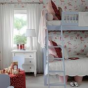 欧式田园风格双人铺儿童房装饰