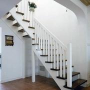 纯白色调楼梯效果图