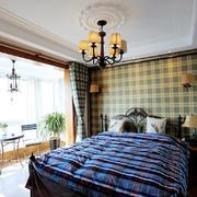 两层复式楼大户型后现代卧室背景墙图例
