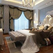 欧式风格卧室奢华窗帘装饰