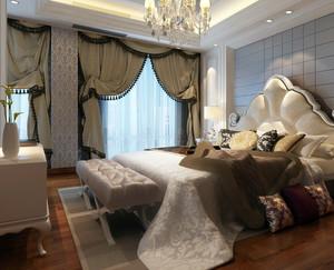 两室一厅欧式卧室家具装修效果图设计