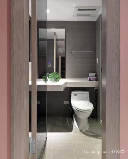 现代简约风格小户型整体卫浴装修效果图
