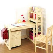 小户型儿童房实木书桌装修设计效果图