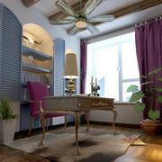 地中海风格简约拱形内嵌式书柜装饰