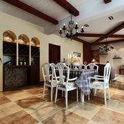 复式楼地中海风格清新餐厅装修效果图