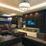 中式风格大户型客厅装修效果图