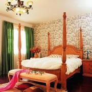 韩式别墅简约风格卧室效果图