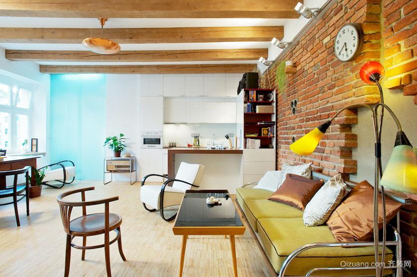 乡村风单身小公寓装修效果图
