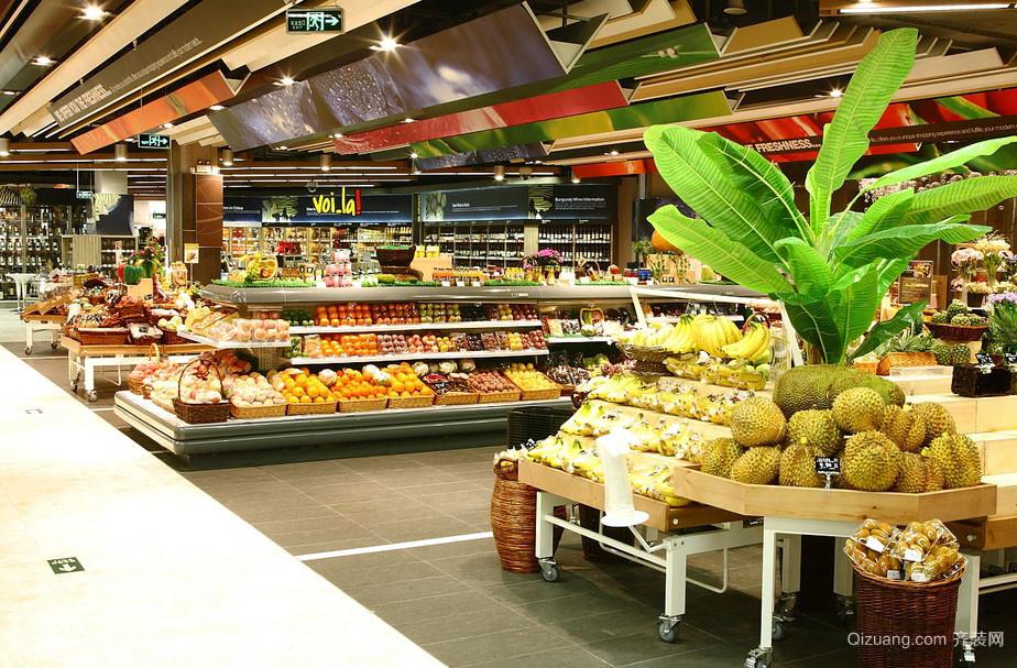 现代大型超市装修设计效果图