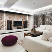 新古典客厅瓷砖背景