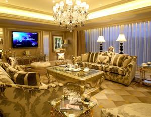 欧式风格客厅简约茶几装修效果图