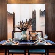 2016后现代大户型餐厅背景墙装修效果图