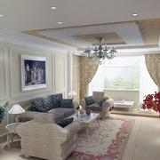 精美的客厅窗帘设计图