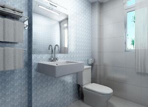 2015三居室大小中等卫生间装修效果图