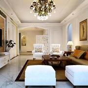 欧式简约棕色系客厅茶几装饰