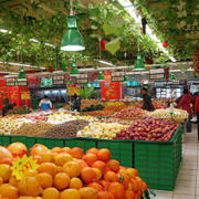 水果超市吊顶展示