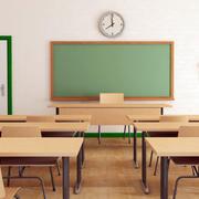 现代简约风格学校教室黑板装饰