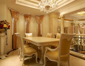 欧式奢华风格别墅餐厅装修效果图