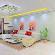 纯白色调客厅设计图