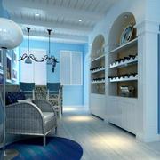 地中海风格简约内嵌式书柜装饰
