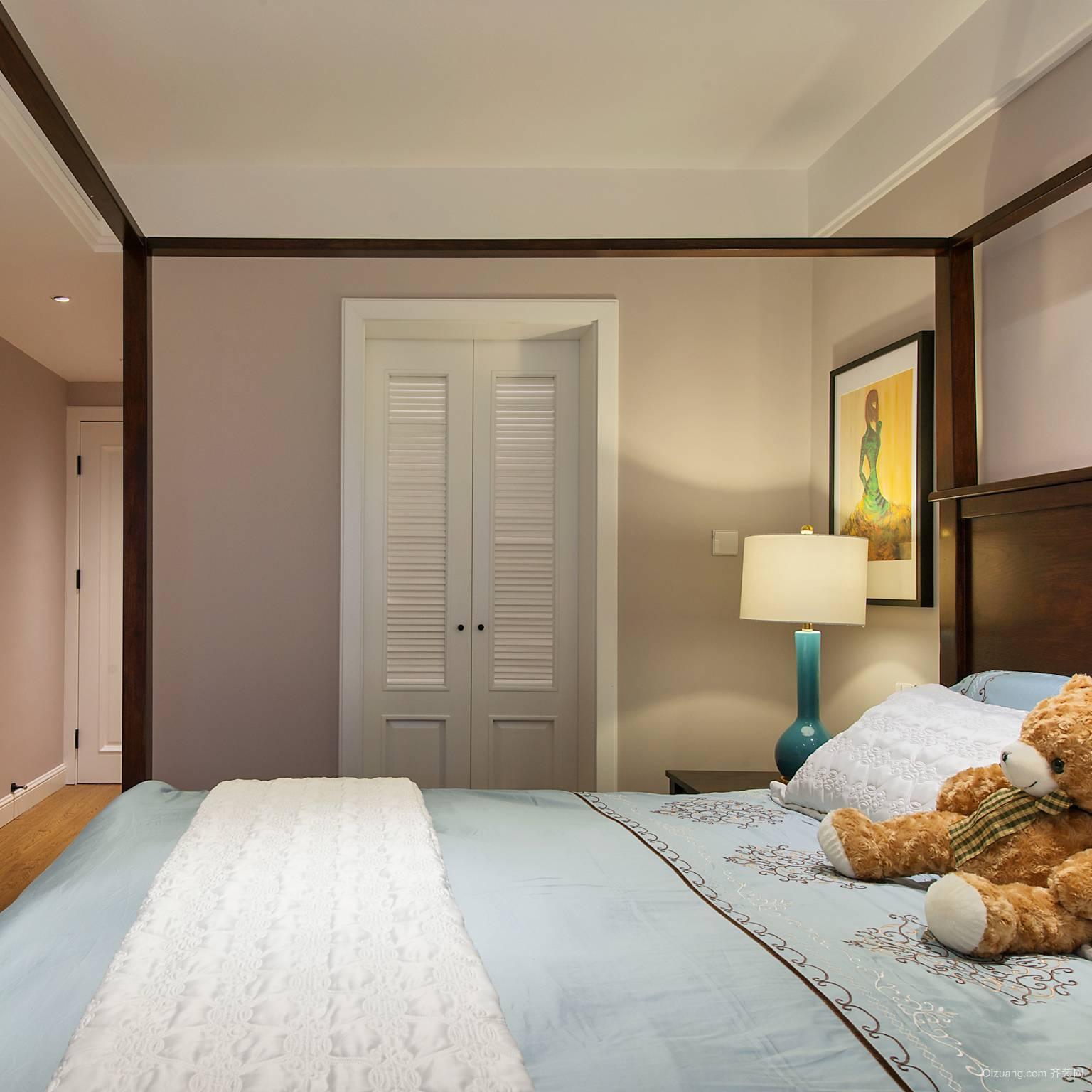 135㎡地中海大户型卧室背景墙效果图例