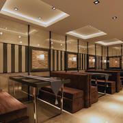 暖色调火锅店整体设计