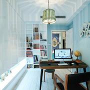 地中海风格白色简约书柜装饰