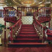 唯美实木楼梯整体设计
