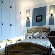 地中海风格简约卧室整体衣柜装饰