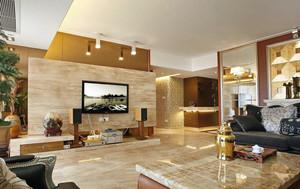 大户型别墅客厅瓷砖电视背景墙效果图