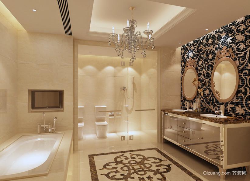精致别墅型欧式卫生间装修效果图