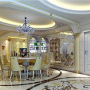 豪华别墅简欧式大餐厅装修效果图
