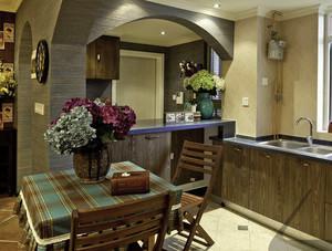 两室一厅韩式简约田园风格厨房装修效果图
