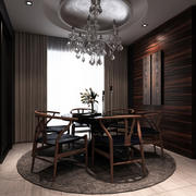 欧式深色系别墅餐厅装饰