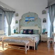 地中海简约风格卧室飘窗装饰