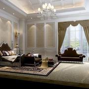 90平米小户型欧式卧室背景墙装修效果图