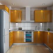 欧式风格大户型整体厨房装修效果图