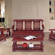精致小户型客厅实木沙发装修效果图片