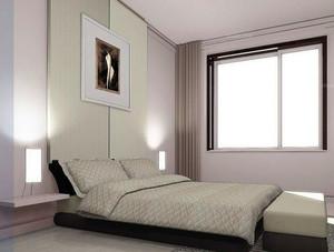 90平米极具现代化简约风格榻榻米床装修效果图