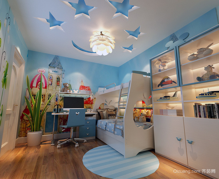 大户型地中海风格儿童卧室装修效果图