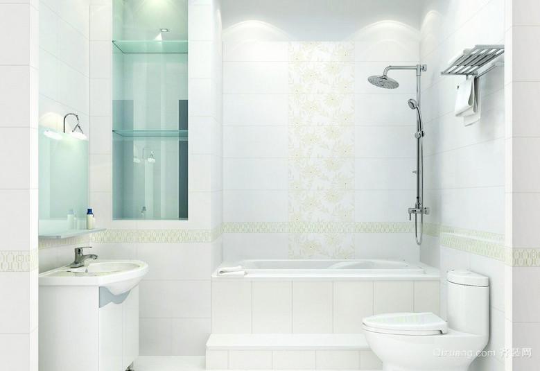 跃层自然风格卫生间装修效果图
