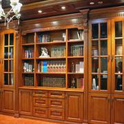 暖色调书柜设计大全