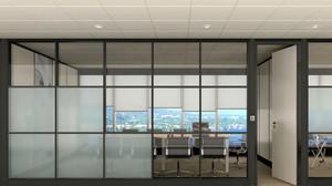 大户型办公室隔断装修设计效果图片