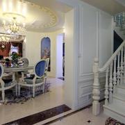 欧式简约风格别墅楼梯装饰